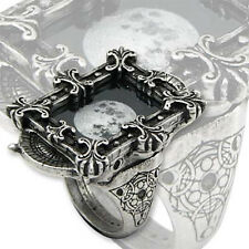 Alchemy Gothic Moon Phase Optimiser Steampunk Empire Cameo Pewter Ring