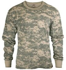 t-shirt long sleeve acu digital camo camouflage poly cotton blend rothco 6385