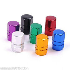 Car Valve Dust Caps Hexagon & Cylindrical Motorcycle Bike Van Lifetime, All Ride