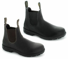 Blundstone Mens 500/510 Leather Slip-On Casual Classic Chelsea Boots Brown/Black
