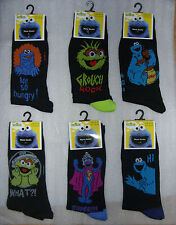 Men's/youths SESAME STREET socks in 6 designs