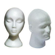 Polystyrene Male Female Display Head Dummy Mannequin Model Stand Hat Wig Storage