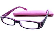 Peepers Living Beyond Breast Cancer Rhinestone Ribbon Reading Glasses - +2.00