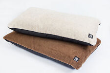 Cream / Brown Fleece Topped Dog Mattress Pet Bed complete  ** MADE IN UK **