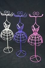 THREE Mannequin Jewelry Stand Display Earrings Necklace Ring Ornament Holder