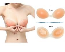 Silicone Invisible Self Adhesive Stick On Gel Bra Push Up Backless Strapless UK