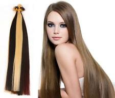 "16"" Indian Remy AAA Grade Double Drawn Nail Tip Human Hair Extensions x100 -0.9g"