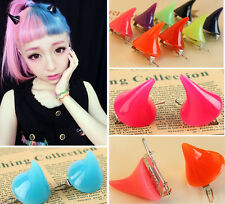New Lady Girl Cosplay Costume Little Devil Horns Candy Colored Hairpin Hair Clip