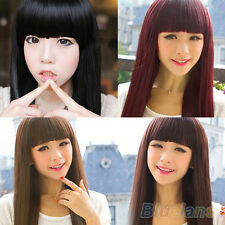 Women New Sexy Long Straight Full Hair Wigs For Cosplay Costume Party B98U