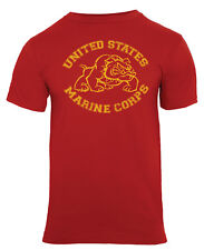 t-shirt red marines bulldog usmc vintage style military design rothco 61163