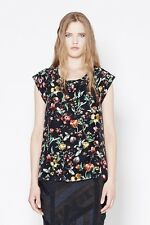 NEW  AUTH 3.1 Phillip Lim Faded Botanical Muscle Tee in Black $225