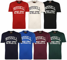 Russell Athletic Mens Logo Short Sleeve T-Shirt Tee Crew Neck Top New