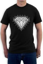 Diamond Print T-Shirt GRAPHIC SKATE URBAN INDIE YOLO Hip Hop DOPE SWAG TEE TOP