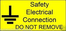 Safety Electrical Connection  Electrical Safety Labels - Yellow 50x25mm