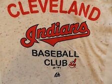 CLEVELAND INDIANS MAJESTIC  T SHIRT MAJESTIC GREY T-SHIRT NEW WITH TAGS