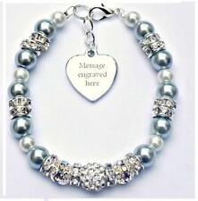 Personalised Engraved Brain Cancer Awareness Bracelet Gift Fundraising Charity