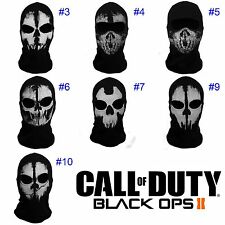Call of Duty 10 COD Cosplay Balaclava Ghost Skull Face Mask Skateboard Bike Hat