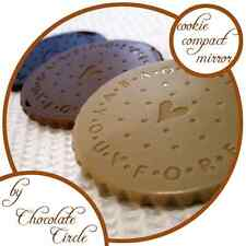 Cookie-shaped Compact Mirror Make up Cosmetics Chocolate Oreo Wedding Gift Favor