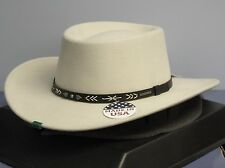 STETSON TAOS SILVER BELLY CRUSHABLE WOOL GAMBLER WESTERN HAT