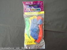 "Congratulations Multi-Coloured 8 x Balloons Air or Helium Fill Balloon 10"" New"