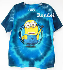 DESPICABLE ME 2 MINION DAVE BLUE TYE DYE BOYS GRAPHIC T TEE SHIRT XS S M L XL