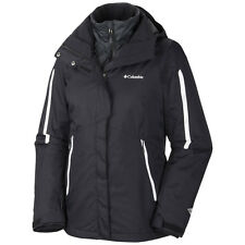 COLUMBIA WOMENS BUGABOO 3 IN 1 INTERCHANGE SKi COAT JACKET REMOVABLE LINER BLACK