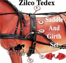 Carriage Driving Harness Saddle Girth Set Zilco Tedex Shetland Pony Cob Full