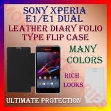 LEATHER DIARY FOLIO FLIP FLAP CASE for SONY XPERIA E1/ E1 DUAL MOBILE FULL COVER