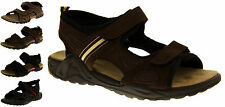 Mens LEATHER SHORESIDE Walking Outdoor Sports Open Casual Beach Summer Sandals