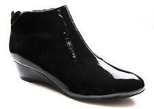 NEW LADIES WOMENS HUSH PUPPIES NORAH BLACK PATENT SHINY LEATHER BOOTS SHOES
