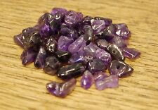 """AMETHYST SMALL TUMBLE CHIP BEADS - 50 BEADS or 36"""" STRING"""