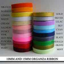 Organza Ribbon ** BUY MORE - SAVE MORE **  You Choose your Colours - Cards Gifts