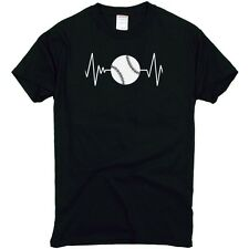Heart Beats Baseball Softball T-Shirt Adult Shirt Top Men's Women's S M L XL