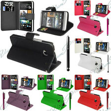 ETUI COQUE HOUSSES RABATTABLE PORTEFEUILLE CUIR SUPPORT VIDEO M HTC ONE M4 MINI