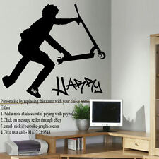 EXTRA LARGE WALL STICKER PERSONALISED STUNT SCOOTER NEW FINGER WHIP UK POSTER