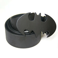 New Western Black Cowboy Black Batman Superhero Mens Metal Belt Buckle Leather