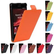 Newest Leather wallet flip Cover Skin Case for Sony Xperia SP M35H C5302 C5303