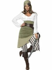 Ladies Shipmate Sweetie Caribbean Pirate Fancy Dress Costume Outfit Size 8-18