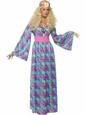 Ladies Hippy Flower Child Maxi Hippie 60s 70s Fancy Dress Costume Hippy