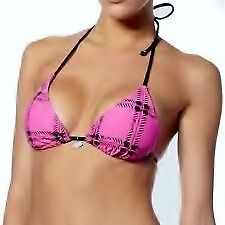 FOX RACING TREAD WOMENS STRING BIKINI TRIANGLE TOP BUBBLE GUM