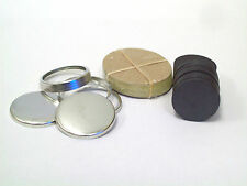 """1"""" 1 Inch COMPLETE THICK CERAMIC MAGNET Button Parts for Button Maker Machines"""