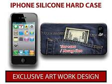 PERSONALISED DENIM JEANS MONEY DOLLAR  IPHONE 44S55S HARD CASE