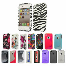 Silicone TPU Gel Bumper Case Cover Sleeve Skin For The Apple iPhone 4 4s