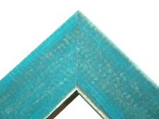 """1.5"""" Country French Teal Blue Rustic Distress Weathered Picture Frame-Panoramic"""