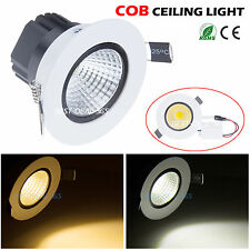 COB Dimmable 6W 9W 12W 15W Led Down light Bulb Recessed Ceiling Lamp Spotlight