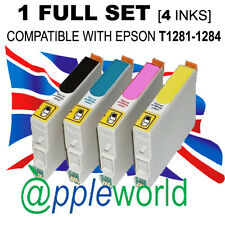 1 FULL SET of inks (4 carts) compatible with T1281-1285 [not EPSON original]