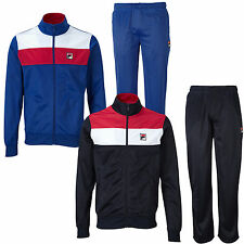 Fila Zorlia Mens F Box 80s Retro Full Zip Tracksuit Top Track Pants New