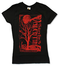"BULLET FOR MY VALENTINE ""RED TREE"" BLACK BABY DOLL T-SHIRT NEW OFFICIAL JRS BFMV"