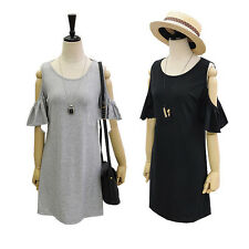 Euro lady clothes butterfly sleeve cute strapless dress plus size shirt dress
