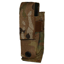 ATS Tactical MOLLE Single Pistol Mag Pouch-Multicam-Coyote-Ranger Green-Black
